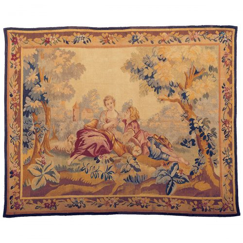 Antique tapestry, Aubusson Manufacture - 121