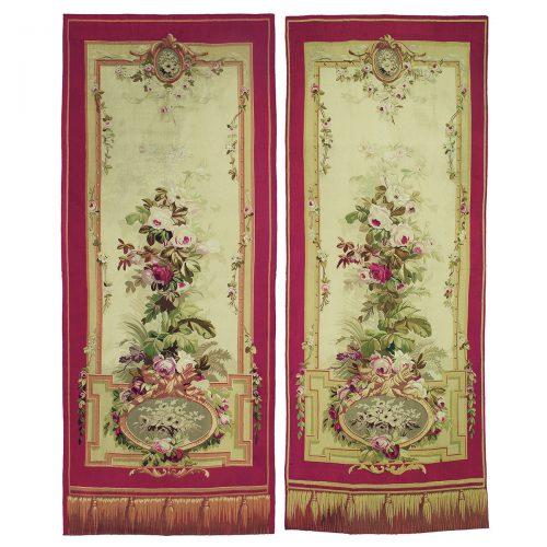 Pair of antique tapestries, Aubusson Manufacture - 181