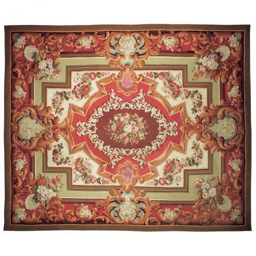 Antique Aubusson carpet (France) - 168