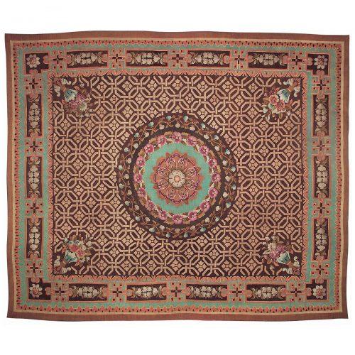 Antique Aubusson carpet (France) 170