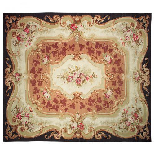 Antique Aubusson carpet (France) 187