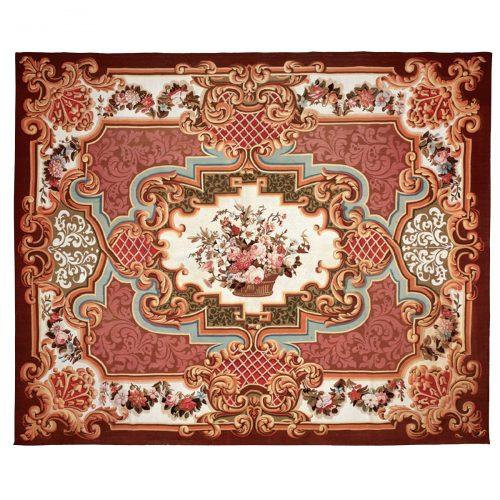 Antique Aubusson carpet (France) 91