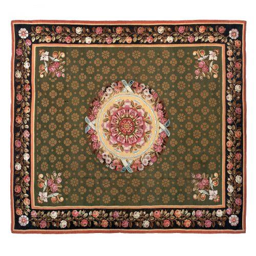 Antique Aubusson carpet (France) 43